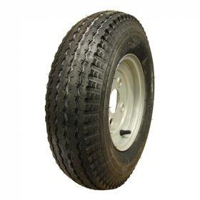 Wiel compleet, velg met band 4.80/4.00-8 S-6003 6PR + 2.50Ax8H2 ET0 60/100/4 71 M staal, grijs,
