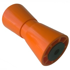 Bootrol kielrol kunststof PVC oranje RAL2008 194*90mm asgat 17mm