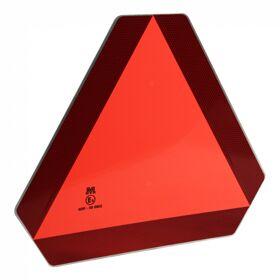 Markeringsbord langzaam rijdend verkeer, oranje driehoek